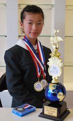 口笛の国際大会ティーン部門女子で総合優勝した加藤万里奈さん