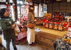 多彩なひな飾りを楽しむ来場者=桜川市真壁町真壁