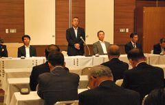 協同組合57団体が参加した協同組合ネットいばらきの設立総会=水戸市三の丸の水戸京成ホテル