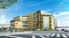 来年9月に開業を予定する複合商業施設「BiViつくば」の完成予想図(大和リース提供)
