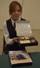 10月から真岡鉄道のSL車内で販売が始まった「SL弁当」=筑西市内