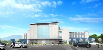 さくらがわ地域医療センターの完成イメージ図(桜川市提供)