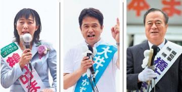 知事選立候補者(右から届け出順)