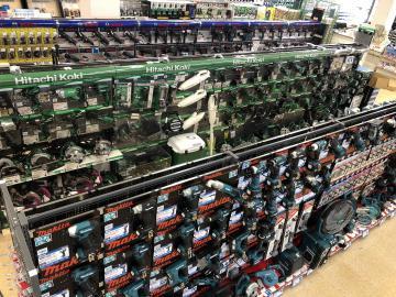 分野別に特化した工具売場=千葉市中央区