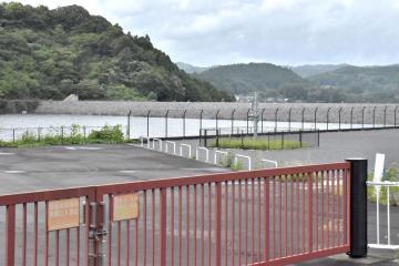 観光拠点として整備される御前山ダム=常陸大宮市上伊勢畑