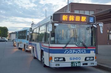 9月30日に廃止される茨城交通の大洗駅-新鉾田駅の路線バス=大洗駅
