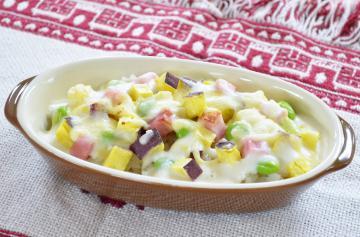 サツマ芋と枝豆のドリア