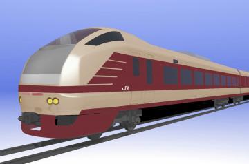 国鉄特急色をイメージしたE653系車両(JR東日本水戸支社提供)