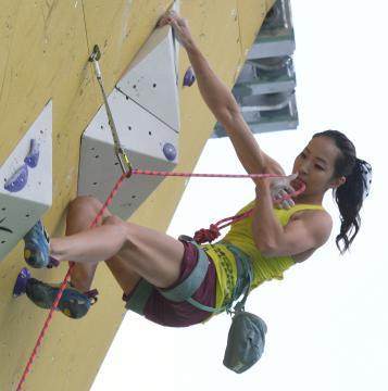 活躍が期待されるスポーツクライミング女子アジア大会複合覇者の野口啓代