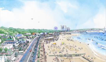 阿字ケ浦(ひたちなか市)の将来イメージ図