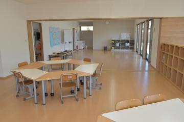 学習スペースなどを備えた「ともだちハウス b&gかさま」の活動室=笠間市笠間