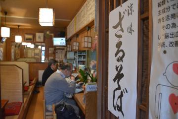 43年の歴史に幕を閉じる「そば処 萬庵」=水戸市泉町