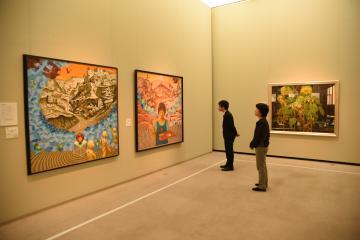 しもだて美術館の企画展「筑西の美術2019〜絵画展」=筑西市丙