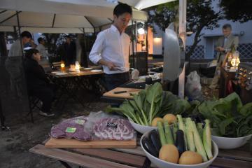 常陸牛や野菜など県産食材を堪能できるバーベキュー施設=水戸市笠原町