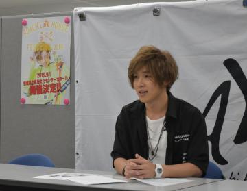 「ADACHI HOUSE FESTIVAL 2019」への来場を呼び掛ける安達勇人さん=県庁