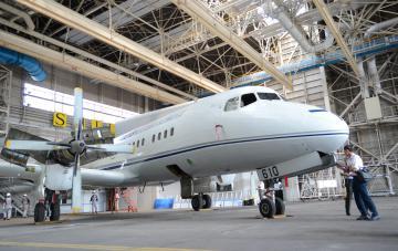 ザ・ヒロサワ・シティに移転するYS11=東京都大田区の羽田空港