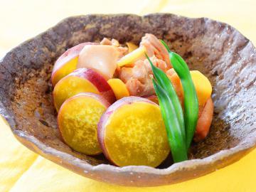 サツマ芋と鶏肉の煮物