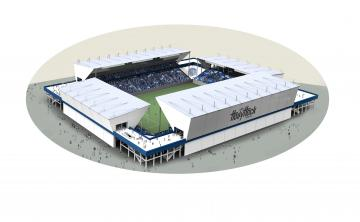 J2水戸ホーリーホックが発表した新スタジアムのイメージ(©MITCHHOLLYHOCK)