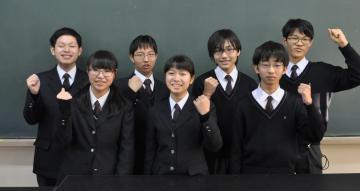 19日に行われる「IBARAKI ドリーム・パス事業」の実践活動発表会に出場する並木中等教育学校の生徒たち=つくば市並木