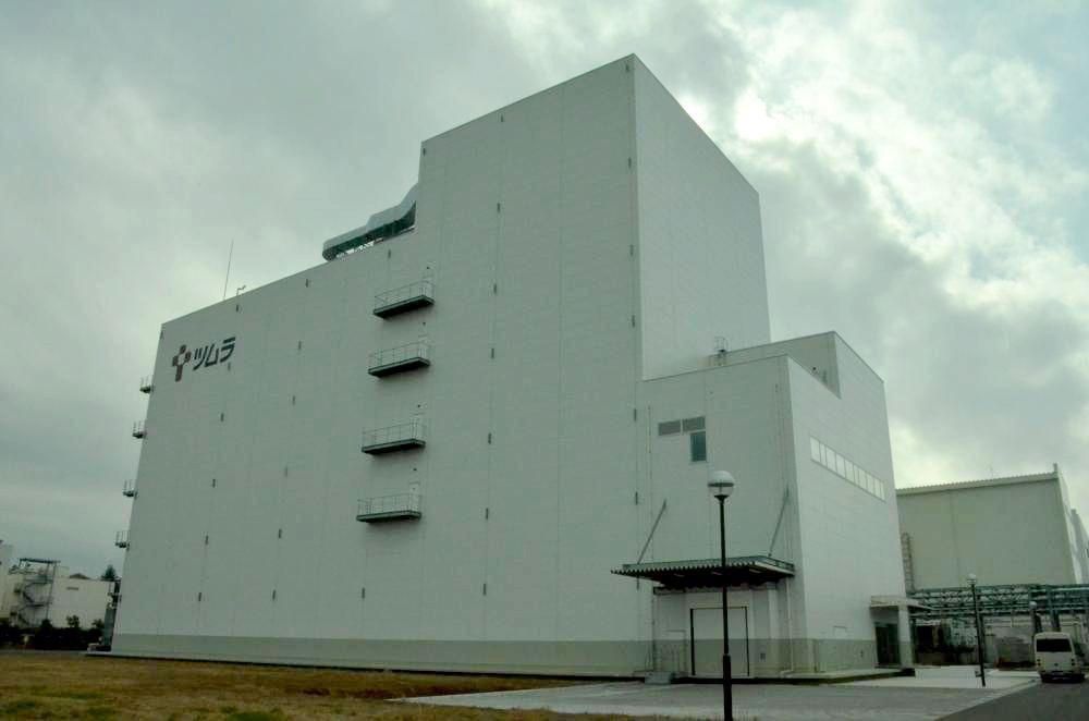 完成したツムラ茨城工場の第3SD棟=阿見町吉原