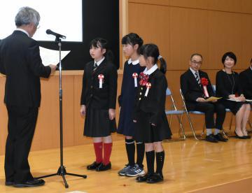 第47回茨城新聞小学生読書感想文コンクールの表彰式(昨年)