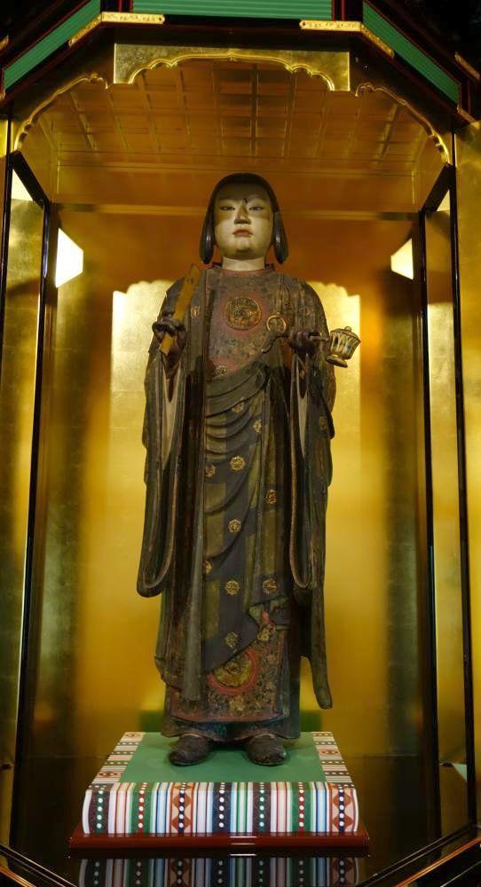 善重寺の「聖徳太子立像」(高さ132.5センチ、重要文化財)