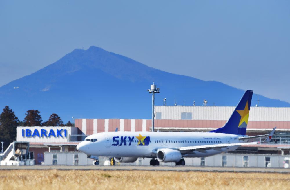 開港10周年を迎えた茨城空港=2020年2月、小美玉市