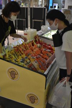 「わらつと納豆」PR 水戸駅 販売や展示ブース