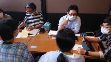 先月開催された無料相談会=水戸市白梅(日本ベトナム友好協会県連合会提供)