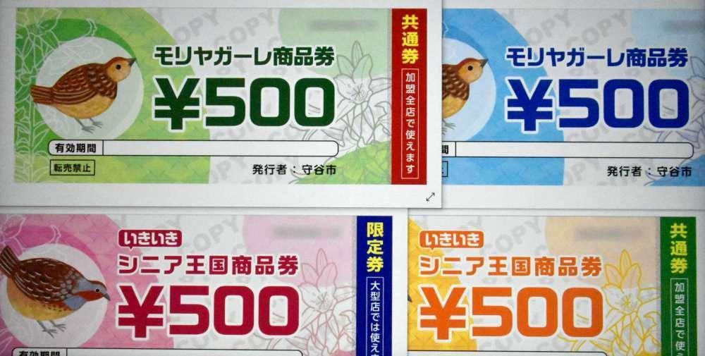 守谷市が発行するプレミアム商品券のイメージ