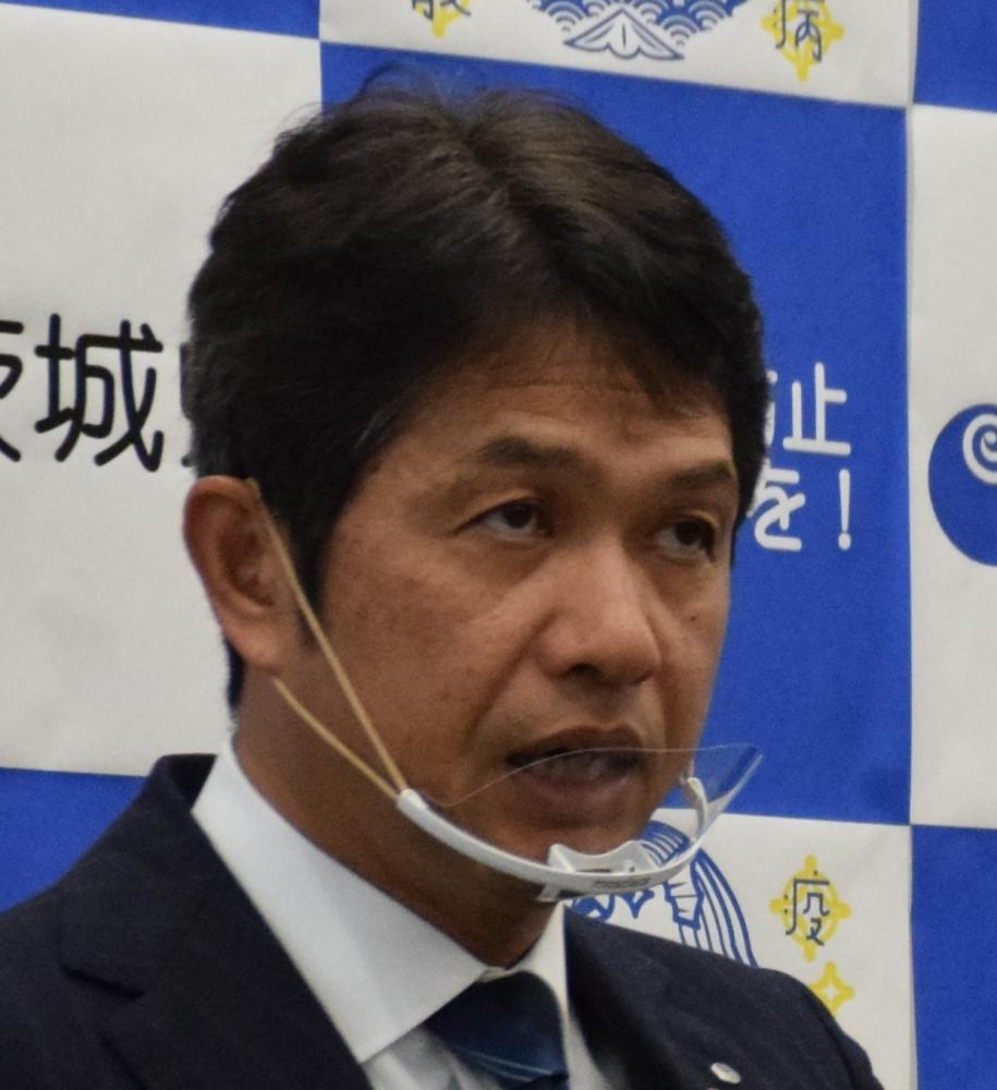 茨城県の大井川和彦知事=県庁