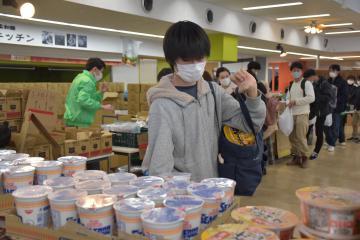 筑波大が実施した困窮学生への食料支援事業=つくば市天久保
