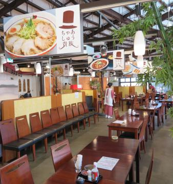 レストランスペースにオープンした「ちゃあしゅう貴族」=小美玉市山野の「空のえき そ・ら・ら」