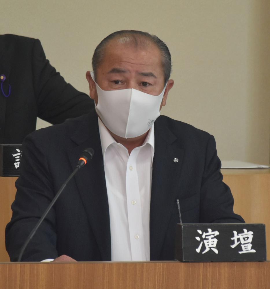 河内町の野沢町長が所信表明 「町の発展に全力」の画像