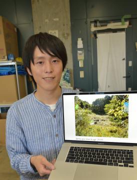 取手で芸術活動に励む大学院生 荒川さん、自然利用し自己表現の画像