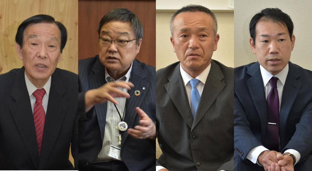 利根町長選立候補者の横顔の画像