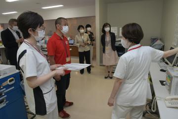 地元議員が病院視察 茨城・古河 看護師と意見交換の画像