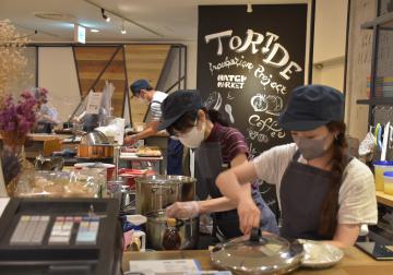 カフェの運営実践 茨城・取手、創業スクール受講生 役割分担、ランチ提供の画像