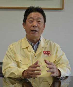 キリンビール取手工場・梶尾伸明工場長 ペットボトル入り増産へ 新ライン稼働、2022年めど 茨城の画像