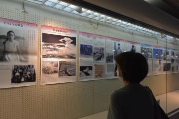 戦争の悲惨さ訴える平和展 茨城・取手 資料や写真並ぶの画像