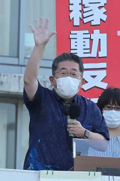 共産・小池氏来県 首相発言を批判 茨城・つくばで知事候補応援の画像