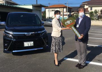 トヨタ販売店グループ 保健所に車両貸与 茨城の画像