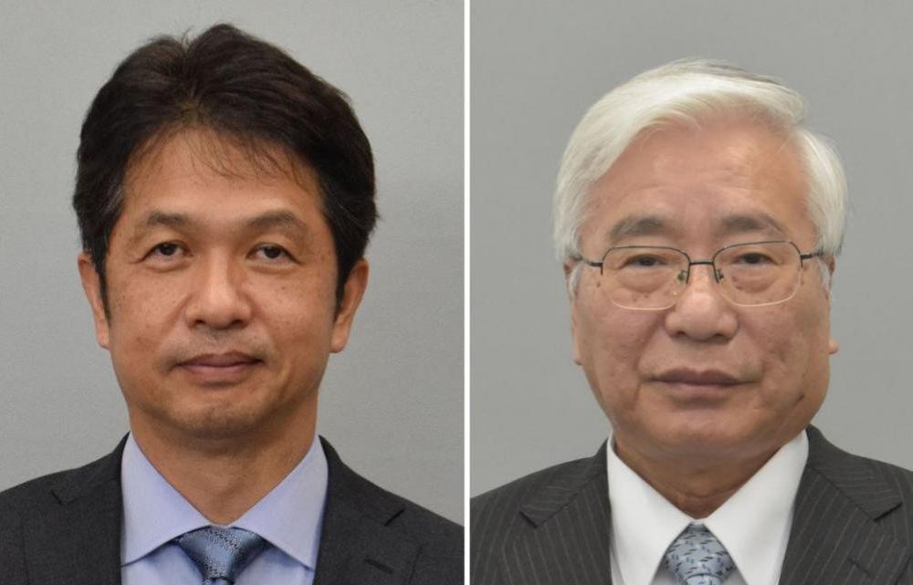 大井川和彦氏、田中重博氏(左から届け出順)
