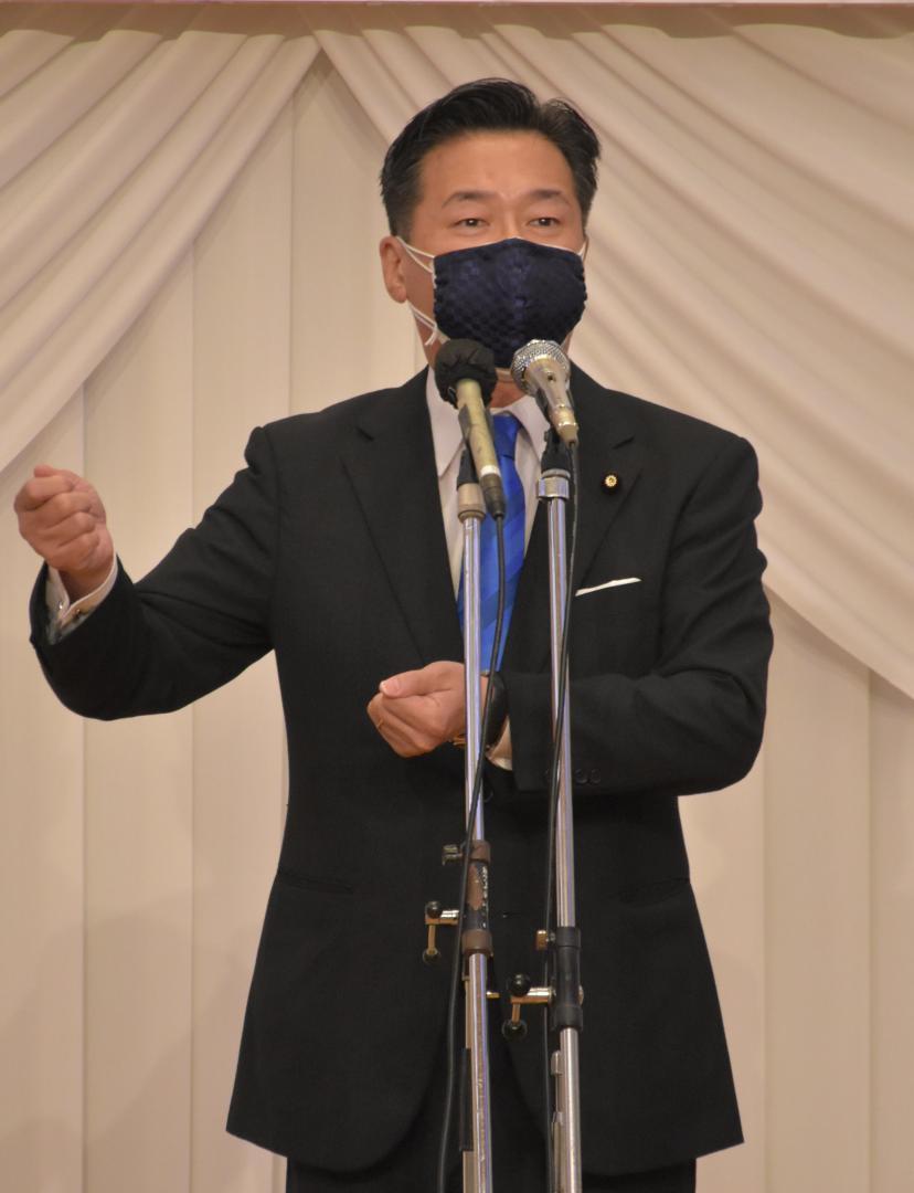 「中間層を元気に」 立民・福山幹事長が茨城県にの画像